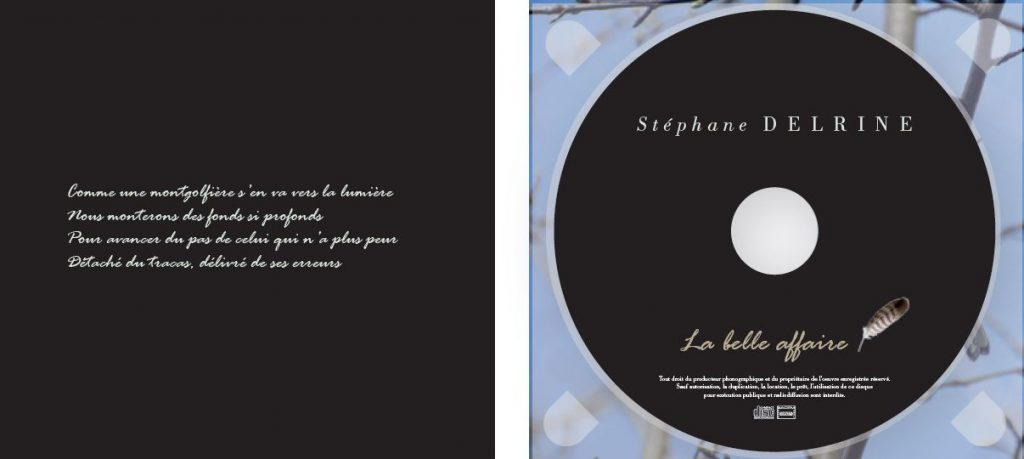 """Delrine Site Officiel Graphisme Digipack : La Belle Affaire"""